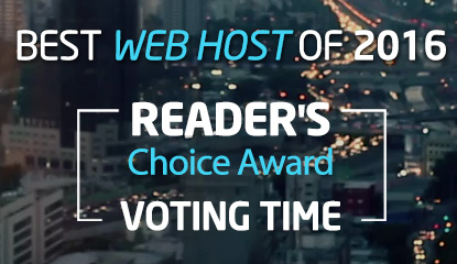 Vote for Best Web Hosting Company of 2016 and Win an iPod Touch