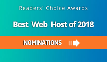 Nominate your favorite web hosting company for Readers' Choice Award