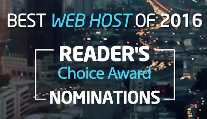 2016 Annual Web Hosting Nominations